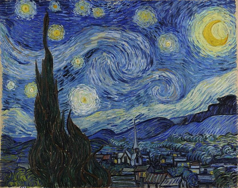 """Винсент Ван Гог, """"Звездная ночь"""" (1889 г.). Анализ фильма """"Ван Гог. С любовью, Винсент"""""""