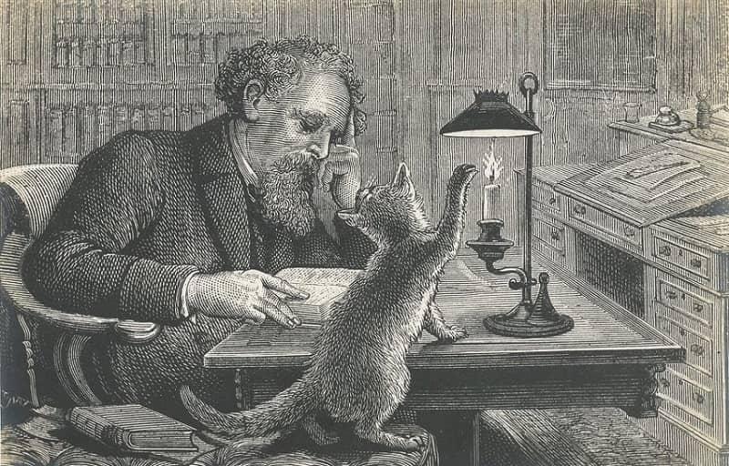 Писатели и их кошки: Чарльз Диккенс