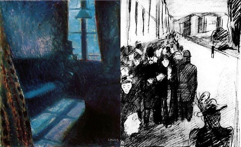 """Описание картин Мунка: """"Ночь в Сент-Клу"""""""