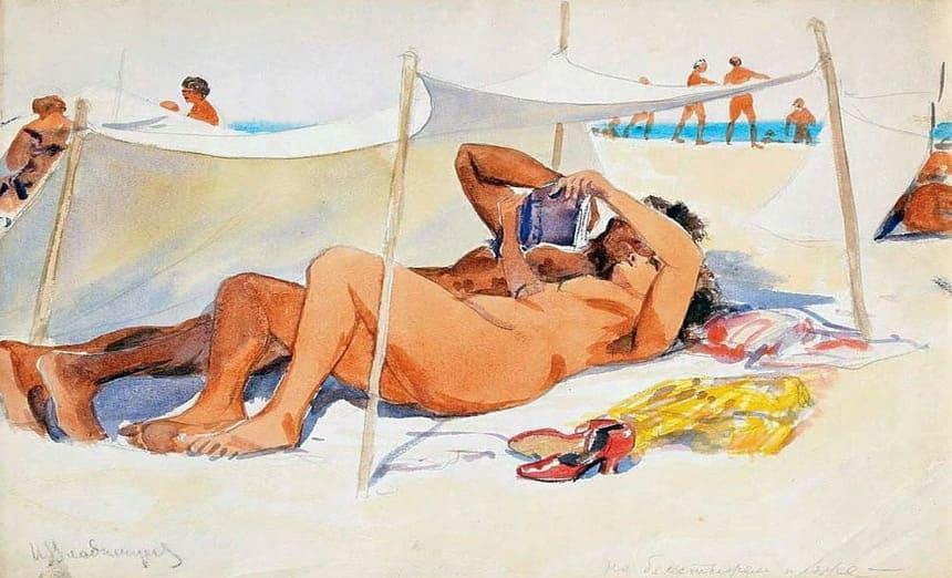 «На бесстыжем пляже» (1930), Иван Владимиров.