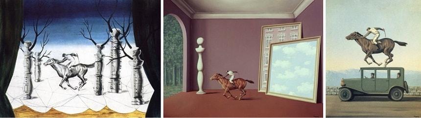 «Заблудившийся жокей» (1926), «Детство Икара» (1960), «Месть богов» (1965).