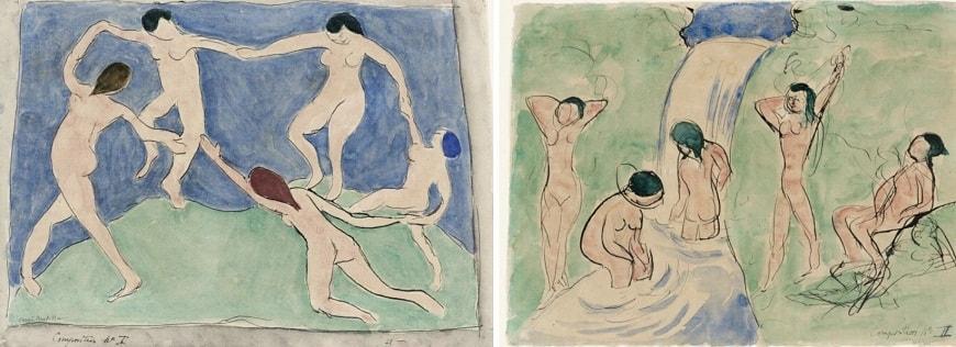 1. «Композиция №1» (1909), «Композиция №2» (1909).