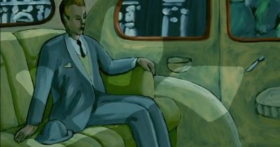 """Человек без тени"" - живописная анимация Жоржа Швицгебеля"
